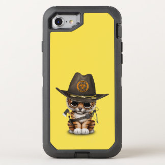 Cute Tiger Cub Zombie Hunter OtterBox Defender iPhone 8/7 Case