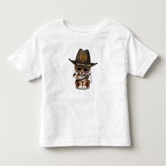 Cute Tiger Cub Zombie Hunter Toddler T-Shirt