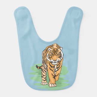 Cute tiger for kids 7a baby bib