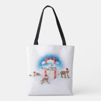 Cute Tigers Tote Bag