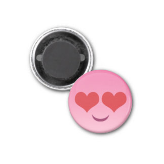 Cute & tiny hearty eyes pink emoji magnet