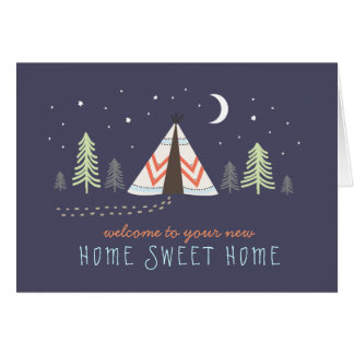 Cute Tipi New Home Card