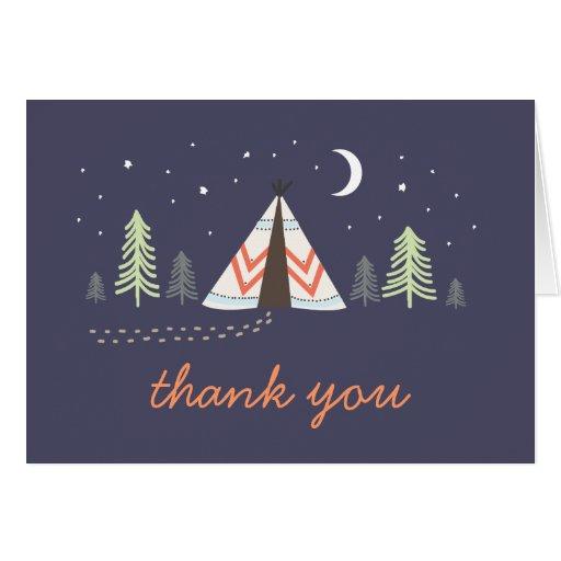 Cute Tipi Thank You Card