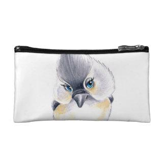 Cute Titmouse Art Cosmetic Bag
