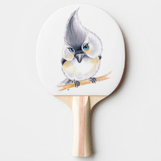 Cute Titmouse Art Ping Pong Paddle