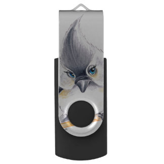 Cute Titmouse Art Swivel USB 3.0 Flash Drive