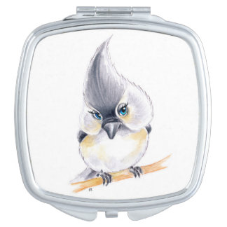 Cute Titmouse Art Travel Mirror