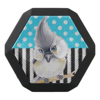 Cute Titmouse Polka Dot Black Bluetooth Speaker