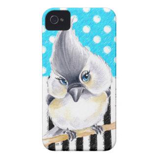 Cute Titmouse Polka Dot iPhone 4 Case-Mate Case