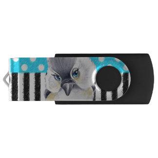 Cute Titmouse Polka Dot USB Flash Drive