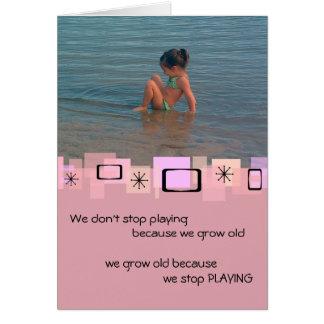 Cute Toddler At The Beach Birthday Greeting Card