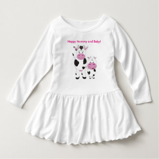 Cute Toddler Ruffle Dress/Happy Mommy and Baby Dress