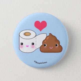 Cute Toilet & Poop BFF Pinback Button