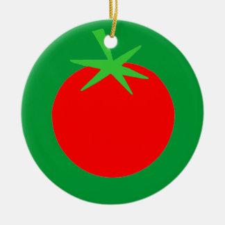Cute Tomato Gardener Christmas Tree Ornament