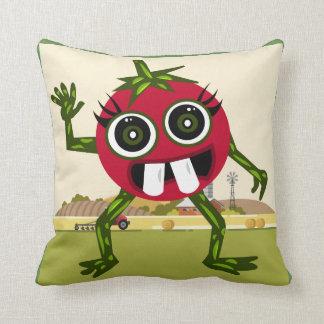 Cute Tomato Polyester Throw Pillow