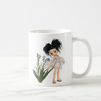 Cute Toon Black-Haired Forget-Me-Not Fairy Coffee Mug