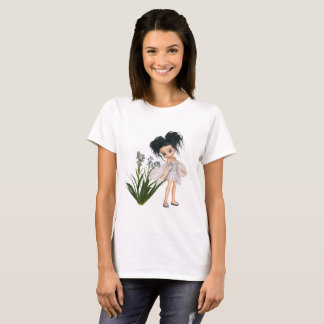 Cute Toon Black-Haired Forget-Me-Not Fairy T-Shirt
