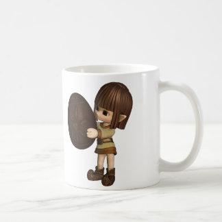 Cute Toon Easter Elf - Chocolate Mugs