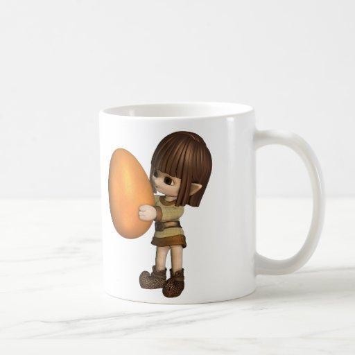 Cute Toon Easter Elf  - Orange Coffee Mug