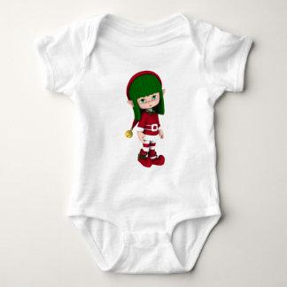 Cute Toon Elf Holiday Baby Tshirt