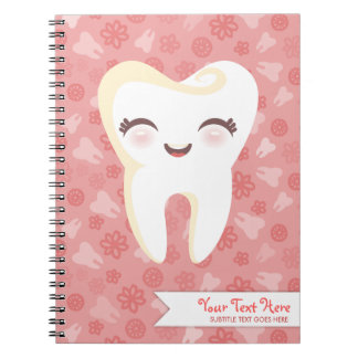 Cute Tooth - Pink Custom Notebook