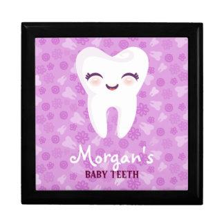 Cute Tooth - Purple Custom Baby Teeth Keepsake Box