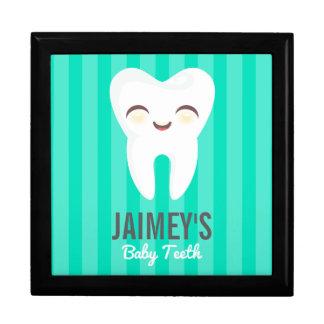 Cute Tooth - Teal Custom Baby Teeth Keepsake Box
