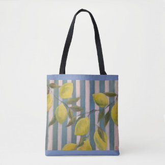 Cute tote with lemons