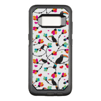 cute toucan bird tropical illustration OtterBox commuter samsung galaxy s8 case