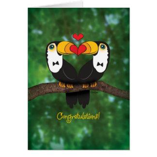 Cute Toucan Gay Wedding Congratulations Card