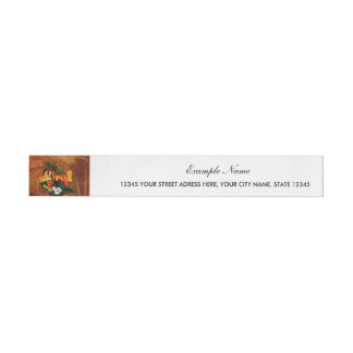 Cute toucan with flowers wraparound address label