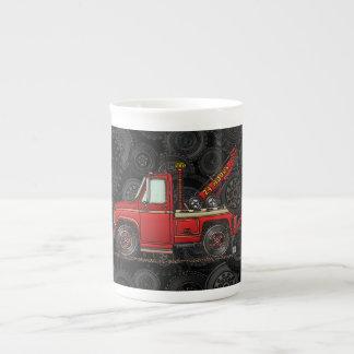 Cute Tow Truck Wrecker Bone China Mug