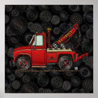 Cute Tow Truck Wrecker Poster
