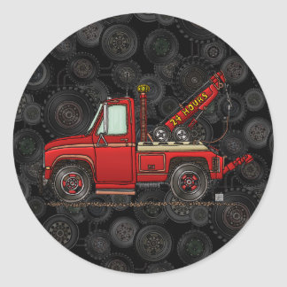 Cute Tow Truck Wrecker Stickers