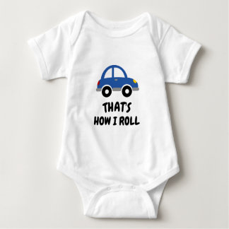 Cute toy car bodysuit for newborn baby boy