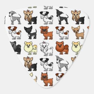 Cute Toy Dog Breed Pattern Plectrum