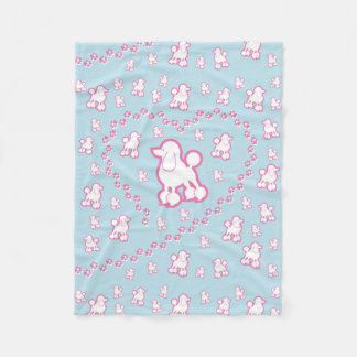 cute Toy Poodle Pattern Fleece Blanket