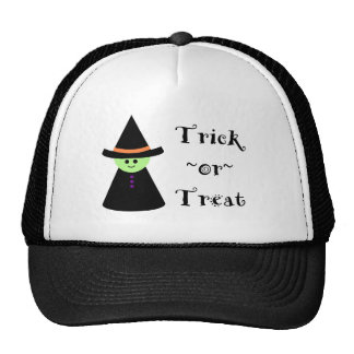 Cute Toy Witch Halloween Trick Or Treat Bag Trucker Hat