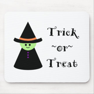 Cute Toy Witch Halloween Trick Or Treat Mousepad