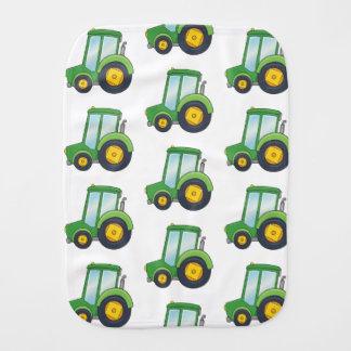 Cute Tractor Pattern Burp Cloth