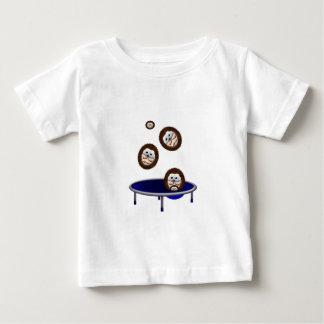 cute trampolining hedgehogs baby T-Shirt