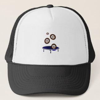 cute trampolining hedgehogs trucker hat