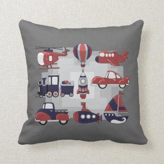 Cute Transport Throw Pillow
