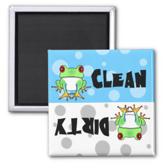 Cute Tree Frog Clean / Dirty Dishwasher Magnet