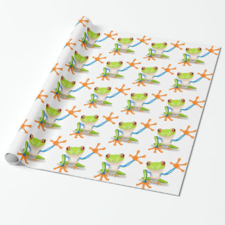 Cute Tree Frog Wrapping Paper