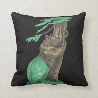 Cute Tree Hugger Bear Wildlife Designed Cushion