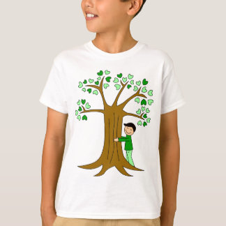 Cute Tree Hugger Design T-Shirt