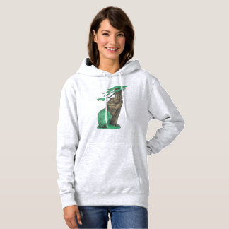 Cute Tree Hugging Bear With Fancy Green Leggings Hoodie