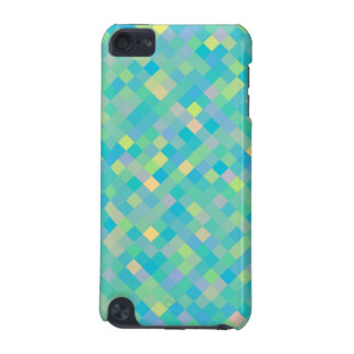 CUTE Trendy Bright Multi-Color Square Pattern iPod Touch 5G Case