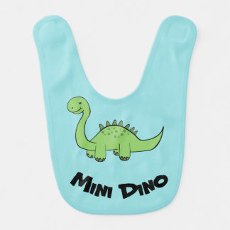 Cute Trendy funny baby dinosaur personalized Bib